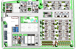 Sports Ground of School Architecture Project dwg file