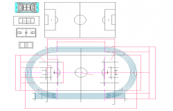 Sports Ground plan dwg file