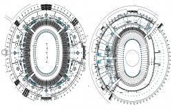 Sports Stadium CAD Drawing