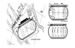 Sports ground center general planimetry cad drawing details dwg file