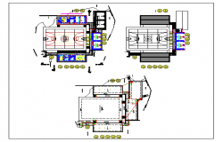 Sports ground details of primary school dwg file