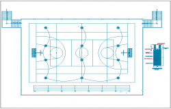 Sports ground details of school dwg file