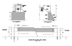 Sports ground landscaping structure and automation details dwg file