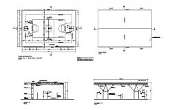 Sports ground section and plan cad drawing details dwg file