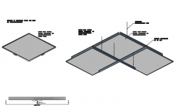 Square plate detail dwg file