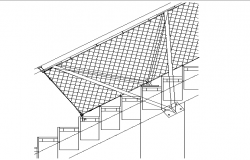 Stadium Stair Case Elevation dwg file