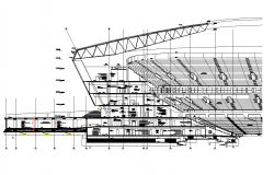 Stadium sectional elevation dwg file