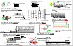 Stage House Architecture Design and Construction Details dwg file