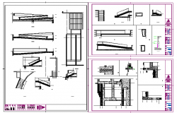 Stair & Structure Detail in cad file