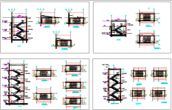 Stair Case Elevation of Building dwg file