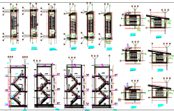 Stair Cases of Flat Elevation dwg file