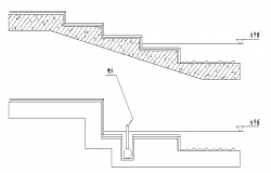 Stair Structure Detail in cad file