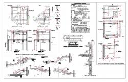 Stair and tank section autocad file
