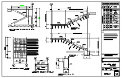Stair case detail design drawing of residential building apartment design drawing