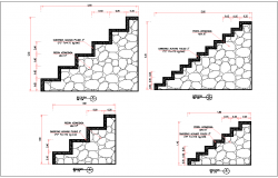 Stair detail and dimensions dwg file