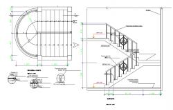 Stair detail dwg file