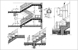 Stair detail view dwg file