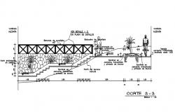 Stair elevation detail dwg file