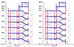 Stair section plan autocad file