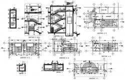 Staircase And Lift Detail DWG File