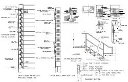 Staircase Building Construction DWG File