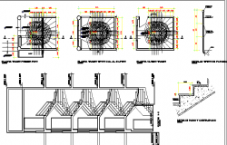 Staircase Construction Details of Building Elevation dwg file