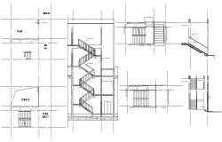 Staircase Section AutoCAD File Free
