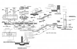 Staircase Structural Details DWG File