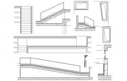 Staircase and Ramp Design Layout Drawing