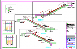 Staircase constructive details of ayangar work shop dwg file