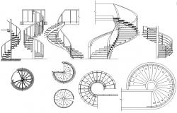 Staircase design CAD file