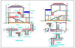 Staircase detail design drawing of house