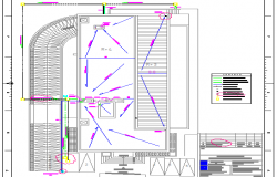Staircase installation details of thirteenth floor of office building dwg file
