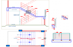Staircase plan autocad file