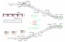 Staircase plan dwg file