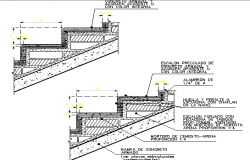 Stairway section details dwg file
