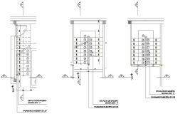 Stairways details of housing floor cad drawing details dwg file