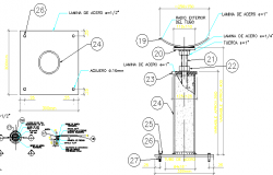 Stan-quill gate valve details dwg file