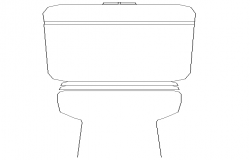 Standing WC Design In Autocad File