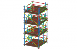 Static tower view with ladle in 3D