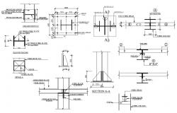 Steel Beam and Column DWG File