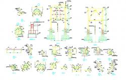 Steel Column Footing Foundation Design And Construction AutoCAD File