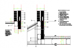 Steel Framing detail in the Autocad file