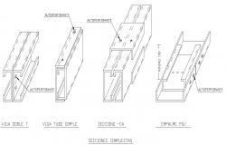 Steel angle sections 3d drawings dwg file