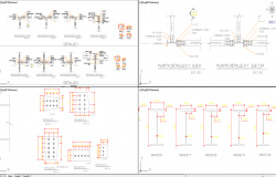 Steel beam detail in autocad dwg files