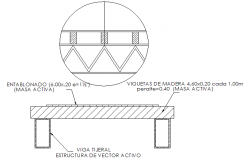 Steel bridge section and plan detail dwg file