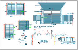Steel door window elevation view detail dwg file
