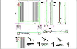 Steel fencing mesh structure for boundary plan detail dwg file