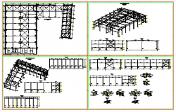Steel industrial building design drawing