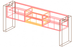 Steel structural 3 D elevation detail dwg file